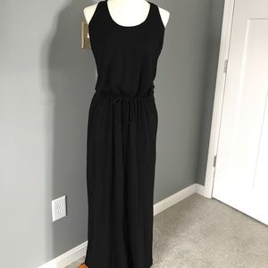 Lanston black summer maxi dress